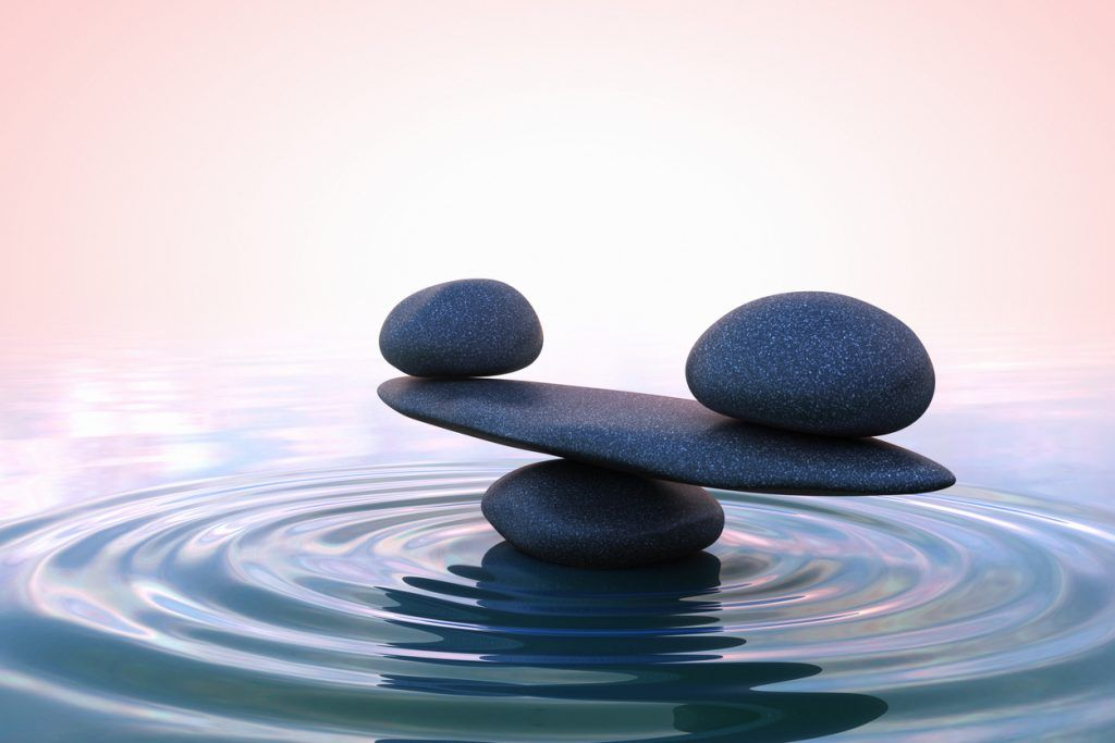 balancing stones in water