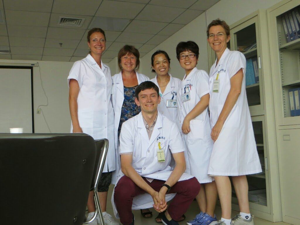 chinese medicine doctors smiling
